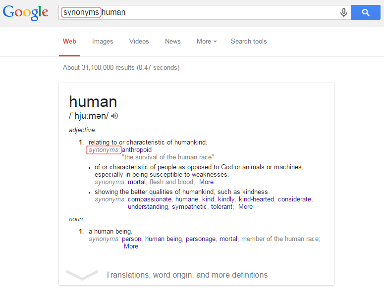 2_synonyms_google