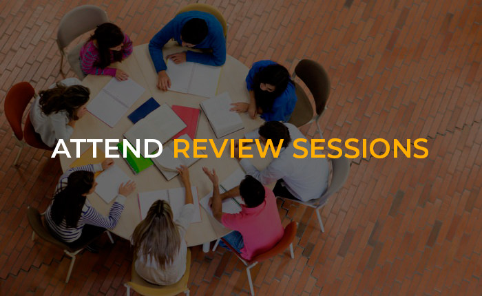 Attend review sessions