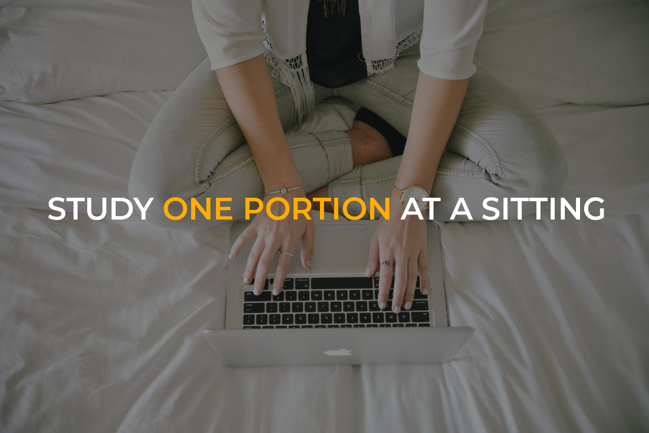 Study One Portion at a Sitting